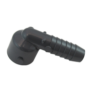 """Drip Tray Part, Female Drain Fitting for 1/2"""" hose - PLASTIC flange adapter"""