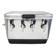 Jockey Box Picnic SS Cooler for Wine & Beer, 54 QT, 4 x 50' Coils