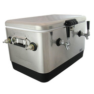 Jockey Box Picnic SS Cooler for Wine & Beer, 54 QT, 2 x 70' Coils