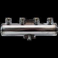 """St.Steel Beer Manifold, 4 Outlets, 2"""" Cylinder reservoir"""