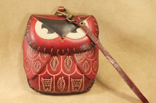 Red owl wristlet