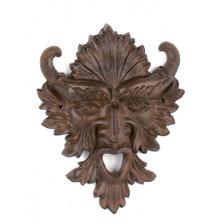 Gargoyle green man plaque ~ Horn god