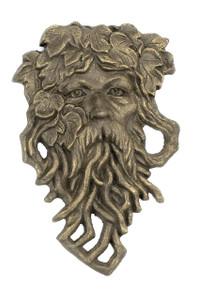 Leaf Man garden face plaque cast iron Green Man ~ Ent Tolkien Hobbit Tree Beard
