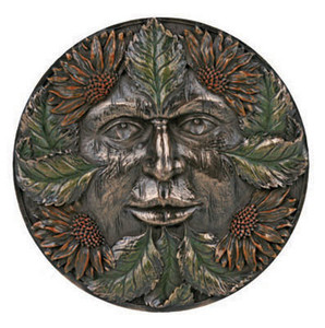 Green Man plaque ~ summer