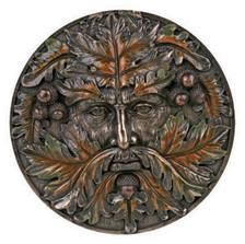 Autumn Green Man plaque ~ resin