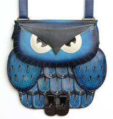 Owl bag ~ blue