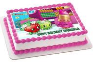 SHOPKINS 1 Edible Birthday Cake Topper OR Cupcake Topper, Decor