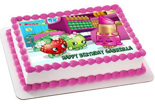 Shopkins Edible Cake Images Edible Cake Image