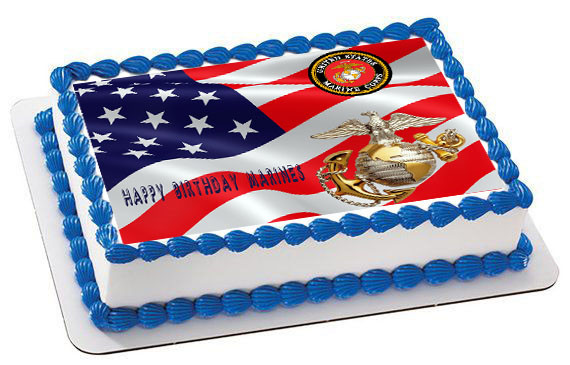 Marine Corps Birthday Cake Toppers