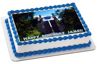 Jurassic World 3 Edible Birthday Cake Topper OR Cupcake Topper, Decor