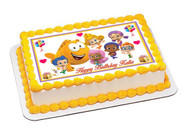 Bubble Guppies 3 Edible Birthday Cake Topper OR Cupcake Topper, Decor