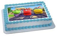 Chuggington Trains 3 Edible Birthday Cake Topper OR Cupcake Topper, Decor