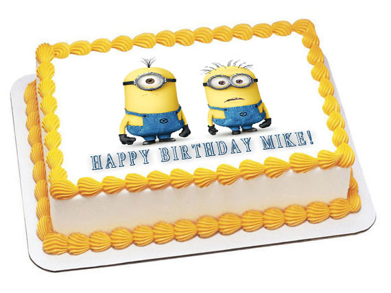 despicable me wedding cake topper despicable me edible birthday cake topper 13494