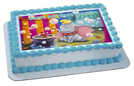 Dumbo Edible Birthday Cake Topper