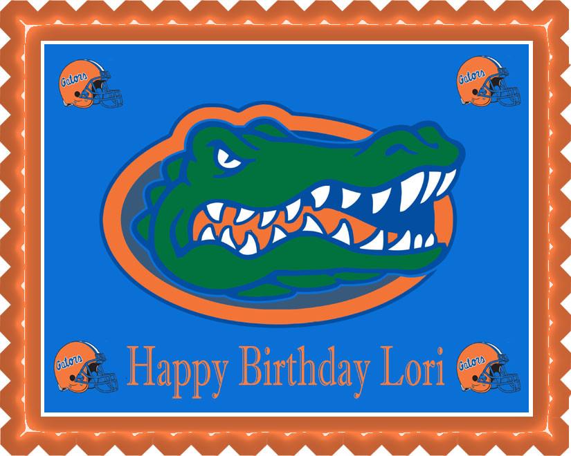 Florida Gators Edible Birthday Cake Topper