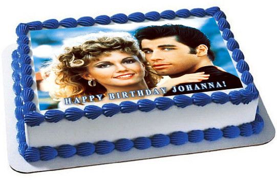 Text My Phone >> Grease Edible Birthday Cake Topper