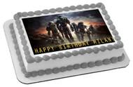 Halo Reach 1 Edible Birthday Cake Topper OR Cupcake Topper, Decor