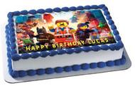 LEGO MOVIE Edible Birthday Cake Topper OR Cupcake Topper, Decor