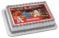 Lego Ninjago 1 Edible Birthday Cake Topper OR Cupcake Topper, Decor