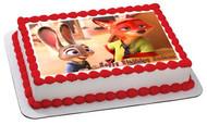 Zootopia 1 Edible Birthday Cake Topper OR Cupcake Topper, Decor