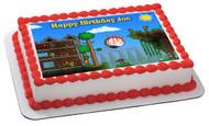 Terraria 1 Edible Birthday Cake Topper OR Cupcake Topper, Decor