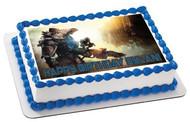 Titanfall Edible Birthday Cake Topper OR Cupcake Topper, Decor
