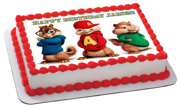 ALVIN AND THE CHIPMUNKS ROAD CHIP 2 Edible Birthday Cake