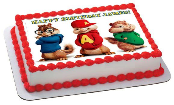 Alvin And The Chipmunks Birthday Cake: ALVIN AND THE CHIPMUNKS ROAD CHIP 2 Edible Birthday Cake