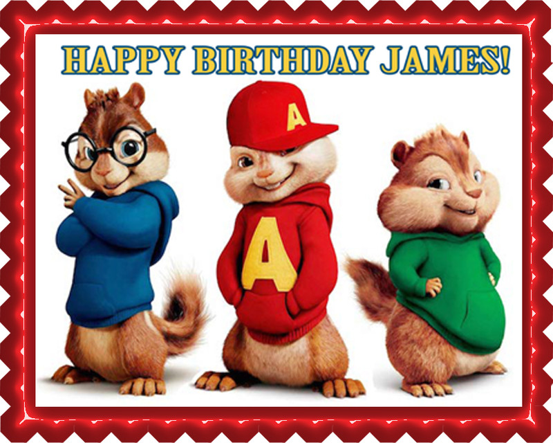 Alvin And The Chipmunks Edible Cake Topper
