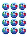 "Edible Cupcake Toppers - 2"" cupcake (12 pieces/sheet)"