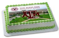 Texas A&M University 2 Edible Birthday Cake Topper OR Cupcake Topper, Decor