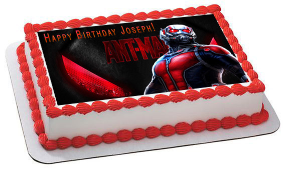 Ant Man Edible Birthday Cake Topper