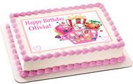 Shopkins 2 Edible Birthday Cake Topper OR Cupcake Topper, Decor
