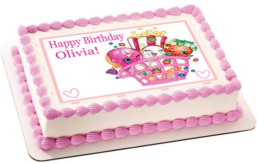 Shopkins 2 Edible Birthday Cake Topper