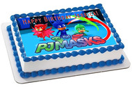 PJ MASKS 2 Edible Birthday Cake Topper OR Cupcake Topper, Decor