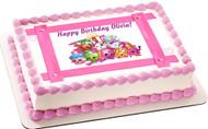 SHOPKINS 4 Edible Birthday Cake Topper OR Cupcake Topper, Decor