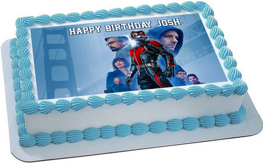 Ant Man 2 Edible Birthday Cake Topper