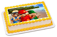 ALVIN AND THE CHIPMUNKS ROAD CHIP 3 Edible Birthday Cake Topper OR Cupcake Topper, Decor