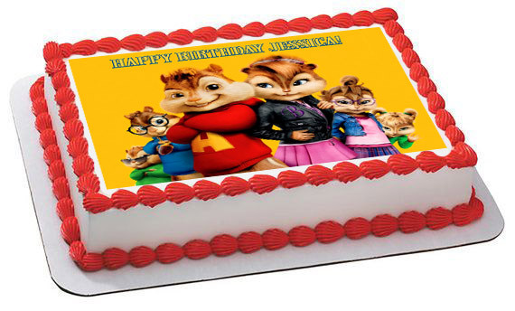 Alvin And The Chipmunks Road Chip 4 Edible Birthday Cake