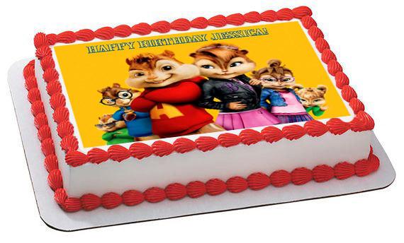 Alvin And The Chipmunks Birthday Cake: ALVIN AND THE CHIPMUNKS ROAD CHIP 4 Edible Birthday Cake