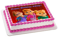 ALVIN AND THE CHIPMUNKS ROAD CHIP 5 Edible Birthday Cake Topper OR Cupcake Topper, Decor