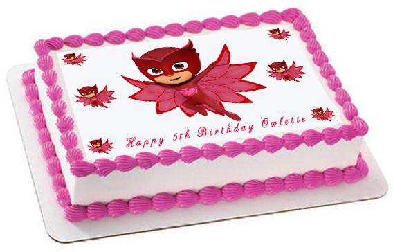 Pj Masks 4 Owlette Edible Birthday Cake Topper