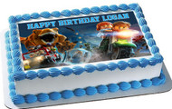Jurassic World Dinosaur Lego Edible Birthday Cake Topper OR Cupcake Topper, Decor