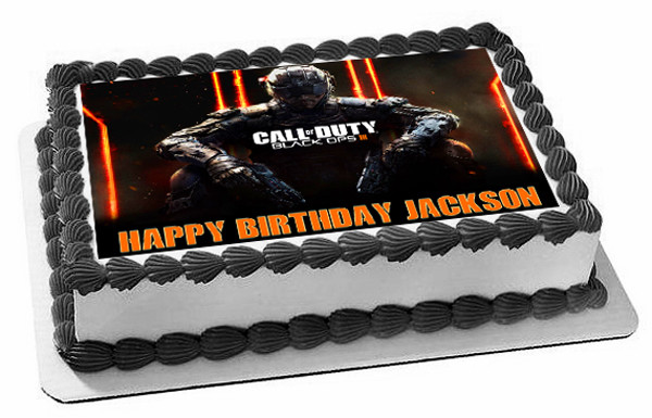 Call Of Duty Ops 3 Edible Birthday Cake Topper