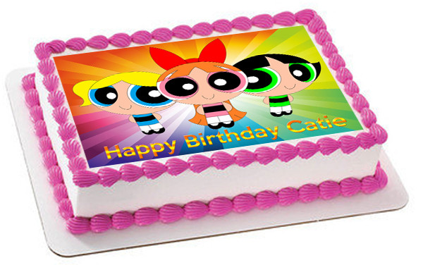 Powerpuff Girls Edible Birthday Cake Topper