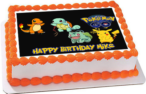 Pokemon Go 2 Edible Birthday Cake Topper