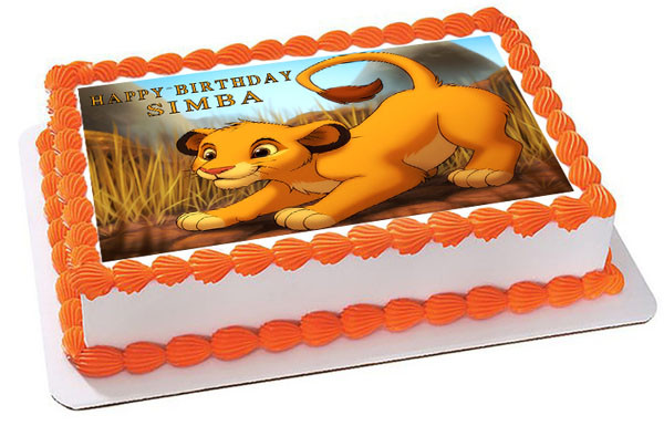 Pumba Cake: Lion King Simba Edible Birthday Cake Topper