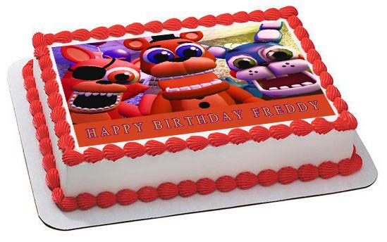 Fnaf World 4 Edible Birthday Cake Topper