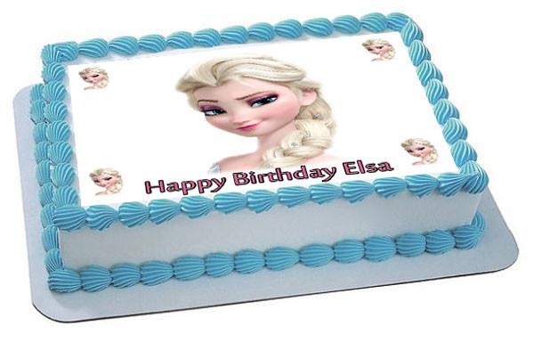 Frozen Elsa Face 2 Edible Edible Birthday Cake Topper