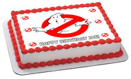 Ghostbusters 5 Edible Birthday Cake Topper OR Cupcake Topper, Decor